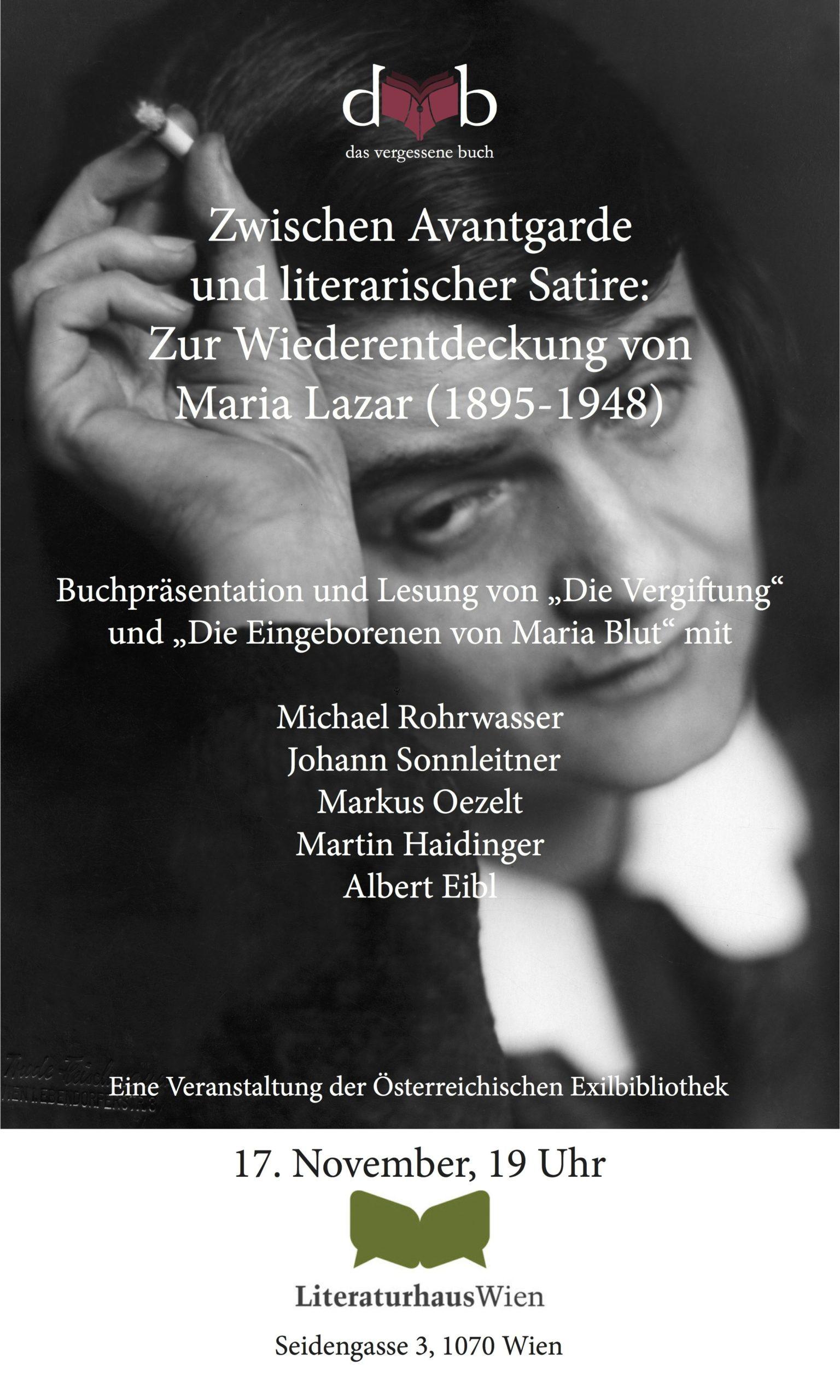Kleines Plakat Literaturhausabend 17. November