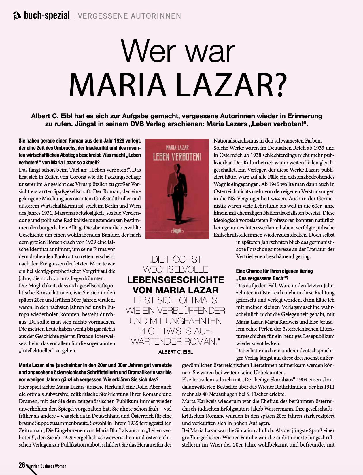 ABW-Interview | Leben verboten! | Mai 2020, S. 1