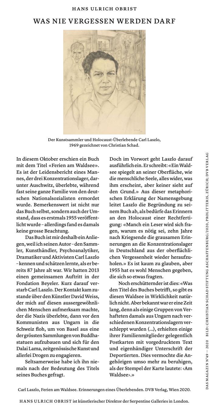 Obrist – Magazin Tagesanzeiger – Ferien am Waldsee